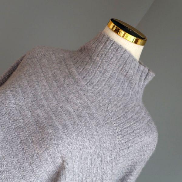 Asymmetric Grey Cashmere Jumper