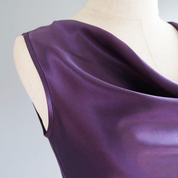 Waterfall night dress purple-blue