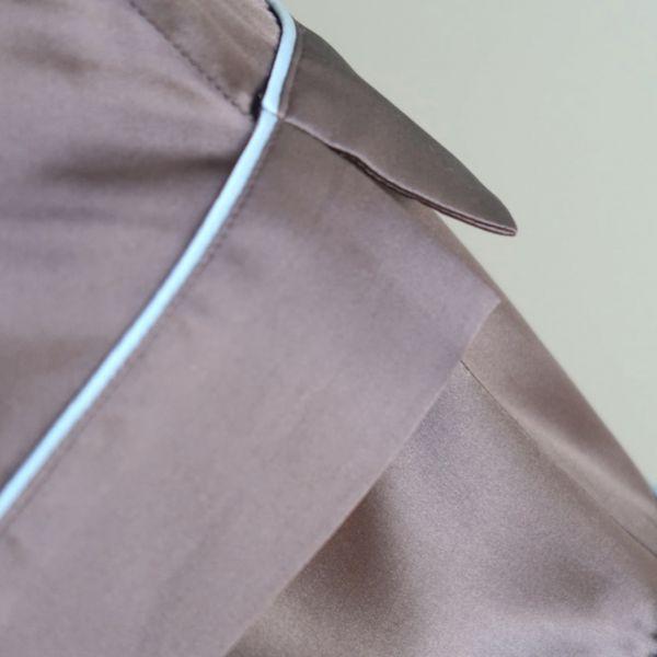 Silken Short PJs Grey/Light blue