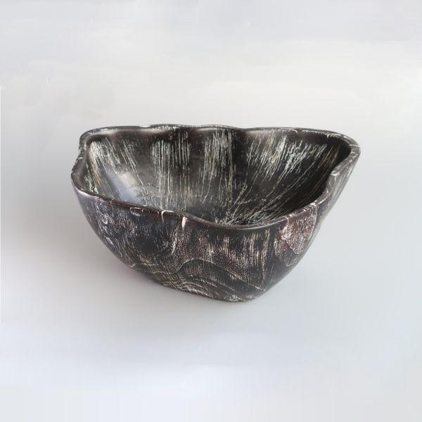 Big chocolate white bowl