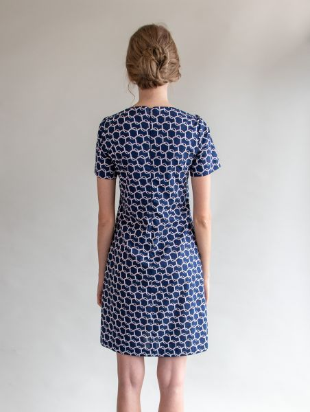 Dress Liz Blue / Rose