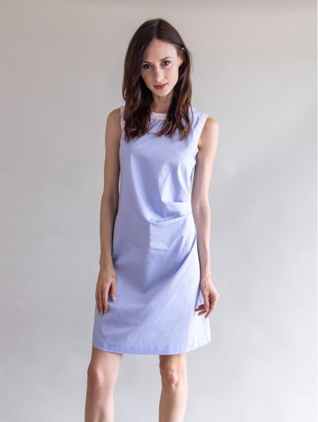 Dress Helen Light blue / rose