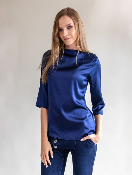 Silken Top Elisabeth Blue