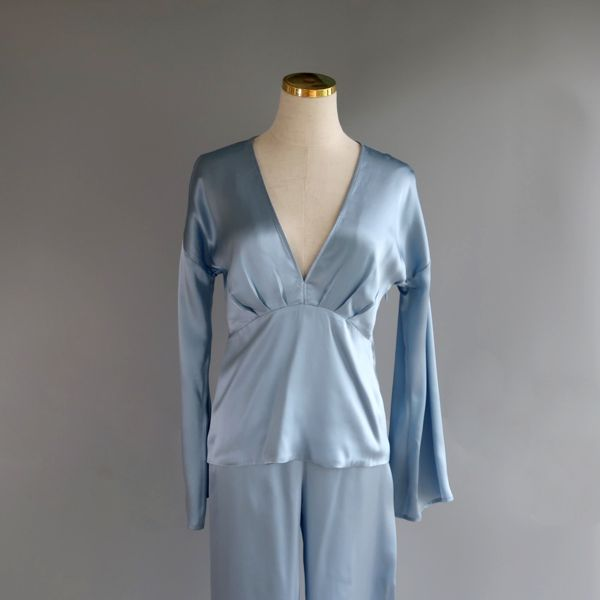 V-neck PJ light blue