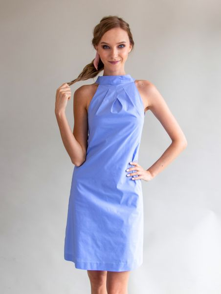 Dress Vee Cornflower Blue