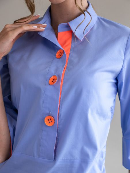 Shirt Alessia Cornflower/Orange
